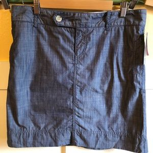 NWT Dockers blue skirt 10P. Unlined. Cotton